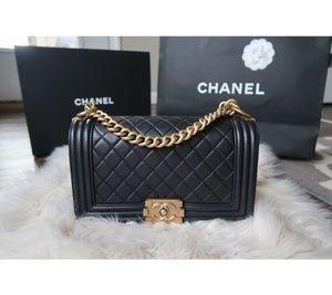 Chanel Medium Boy w/ Brushed Gold HW